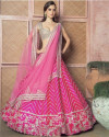 Pink color Mulberry silk lehenga with heavy embroidery work