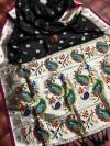 Black color minakari pure silk saree with superb pallu & jalar