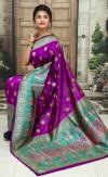 Purple color Soft & Pure Banarasi silk saree With Rich Weaving Pallu