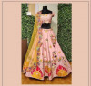 Baby pink color mono satin silk lehenga with heavy sequence embroidery work