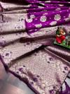 Pink color soft banarasi saree with weaving golden  zari border