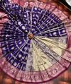 Purple color banarasi soft lichi silk saree with golden zari work