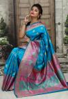 Firoji color Soft & Pure Banarasi silk saree With Rich Weaving Pallu
