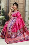 Pink color Soft & Pure Banarasi silk saree With Rich Weaving Pallu