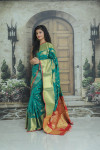 Kanchipuram silk saree with zari work