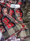 Red Color Cotton Silk Meenakari Work Saree