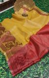 Banarasi tissue silk silver zari Work Saree