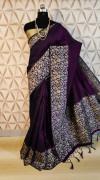 Banglori handloom Raw Silk weaving work saree