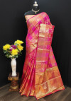 Pure Banarasi Lichi silk Woven work Saree