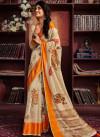 Handloom Linen silk Digital Printed work