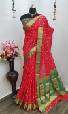 Pure Cotton Silk  jacquard weaving Work Saree