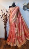 Soft mulberry silk woven Work saree