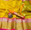 Yellow color Kota Silk Weaving Work saree