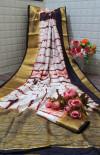 Coffee color  tassar silk saree with woven border