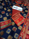Navy blue Patola silk Weaving work Saree