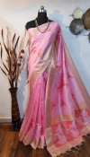 Soft mulberry silk woven Work saree