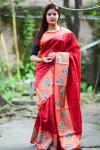 Raw silk Zari Woven work saree