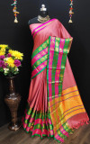 Soft Cotton Silk  jacquard weaving Work Saree