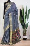 Soft handloom cotton weaving work saree