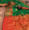 Green color Pure Banarasi  weaving work saree