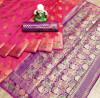 Beautiful soft pure banarasi cotton silk saree