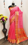 Soft Linen Silk weaving Work Saree