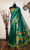 Soft raw silk Zari Woven border Work Saree