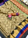 Beige color Tansui silk Woven work Saree