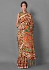 Multi color bhagalpuri silk saree with digital printed work