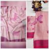 Multi color linen saree with digital printad work