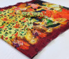 Multi color linen saree with printad work