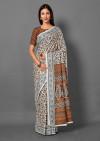 Beautiful pashmina silk saree