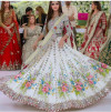 White color georgette lehenga with heavy embroidery work
