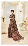Pashmina silk saree with digital printed work