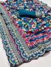 Foriji color pure kumari silk saree with digital printed work
