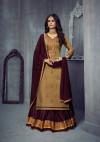 Beige color jam silk cotton dress material