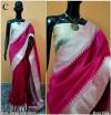 Banglori raw silk saree with pallu