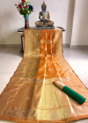 Banarasi silk saree with meenakari border and resham woven pallu