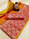 Doriya Zari Weaving work Saree