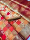 Kanchipuram jacquard weaving silk saree with zari work