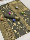 Cotton silk saree with zari woven work