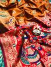 Soft paithani silk saree with weaving rich pallu