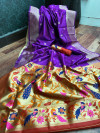 paithani silk saree with weaving rich pallu