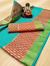 Doriya Zari Weaving work Saree