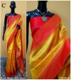 Banglori raw silk saree with pallu