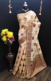 Cotton Linen Jacquard work Saree