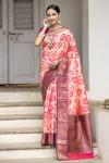 Soft silk weaving saree with zari woven border and pallu
