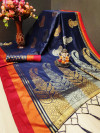 Cotton silk saree with zari work
