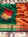 paithani silk weaving saree with rich pallu