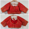Heavy silk ready made blouse with sequence and aari work